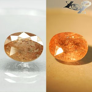 7.83 CT.Natural Oval 10.5*13 mm. Color Shift Salmon Yellow France Ferro Axinite