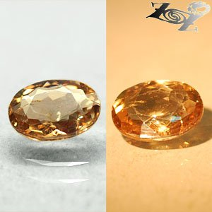 3.21 CT.Natural Oval 8*11mm Intense Lilac Yellow Brown Color Shift Ferro Axinite