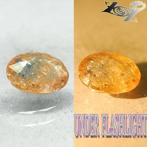 2.9 CT.Natural Oval 8*10.5 mm. Lilac Yellow Blue Color Shift Magnesio Axinite