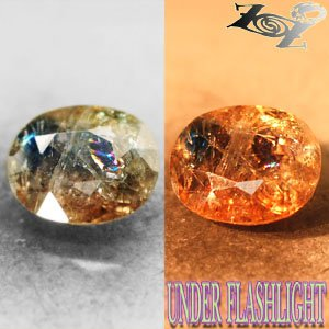 3.73 CT.Natural Oval 9*11mm Champagne Brown Blue Color Shift Magnesio Axinite ��