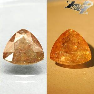 9.79 CT.Natural Trillion 14.5 mm. Color Shift Intense Lilac Yellow Ferro Axinite