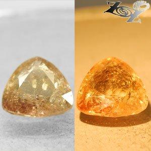 5.09 Ct.Natural Trillion 11.5 mm. Color Shift Salmon Brown France Ferro Axinite