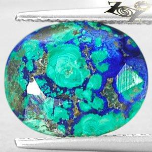 6.1 CT.Natural Oval 11*13 mm.Brown  Azure Blue Green Azurite Malachite ��礦 ���