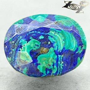 6.71 CT.Natural Oval 10.5*12.5 mm. Azure Blue Green Azurite Malachite ��礦 ���