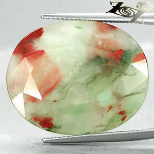 31.22 Ct.Natural Oval 21.27 mm Crystal White Green Red Bloodstone Heliotrope ���