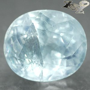 24.5 CT.Natural Oval Facet 15*17 mm. Intense Ocean Blue Celestite 天�� @Only Here