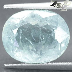 12 CT.Natural Oval facet 11*14 mm. Ocean Blue Celestite Celestine @ZOULTIER ONLY