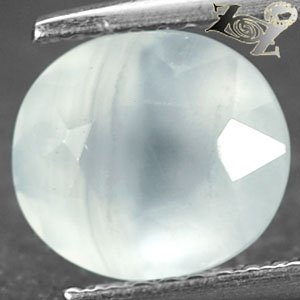 2.13 Ct.Natural Oval 8*9 mm. Banded Blue Africa Chalcedony Loose Gemstones ��