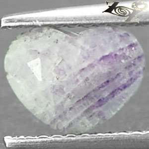 Limited Natural Heart 6*8 mm. Purple Patch White Russia Charoite 1.45 CT.Gems