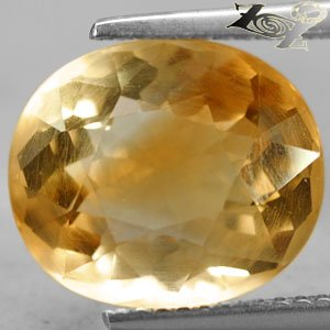 6.19 Ct.Full Fire Flawless Natural Oval 11*12.5mm. Intense Brandy Yellow Citrine