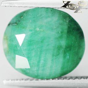 7.8 CT.Natural Oval 11*13 mm. Intense Juicy Green Serbia Emerald Beryl Gemstones