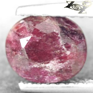 Natural Oval 6.5*7.5 mm. Intense Magenta Red Crystal Canada Eudialyte 1.81 CT.