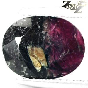 3.32 CT.Natural Oval 8*10 mm. Bi Color Intense Magenta Red Crystal Eudialyte Gem