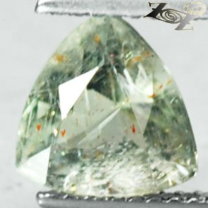 2.02 CT.Full Fire Natural Trillion 8mm Hematite Spark Illusion Confetti Sunstone