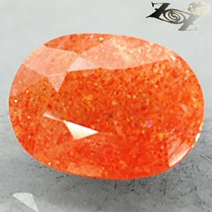 4.54 CT.Natural Oval 10*13 mm. Spark Stardust Orange Illusion Confetti Sunstone