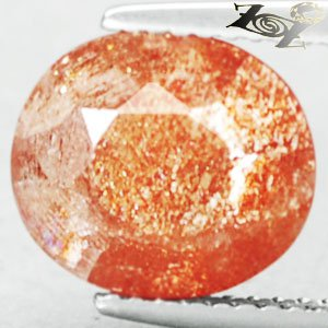 3.9 CT.Natural Oval 9*10.5 mm.Spark Hematite Platelet Illusion Confetti Sunstone