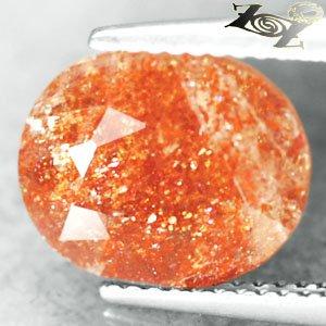4.88 CT.Natural Oval 9*11.5 mm. Spark Colorful Orange Illusion Confetti Sunstone