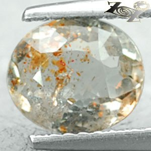 Natural Oval 7*8 mm. Spark Orange Kiwi Green Illusion Confetti Sunstone 1.23 CT