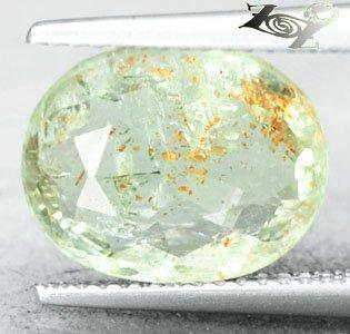 4.65 CT.Natural Oval 10*12 mm. Stardust Orange Green Illusion Confetti Sunstone