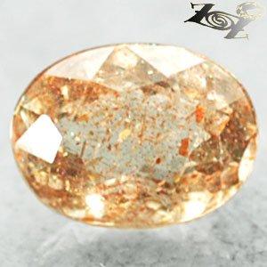Firely Natural Oval 6*8 mm Spark Hematite Peach Orange Confetti Sunstone 1.56 CT
