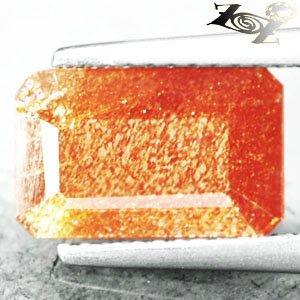 3.25 CT.Natural Emerald 7*11 mm Spark Hematite Orange Illusion Confetti Sunstone