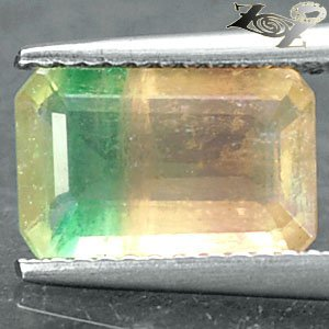 2.55 Ct.Natural Emerald 7*10.5 mm. Purple Green Yellow Vietnam Rainbow Fluorite