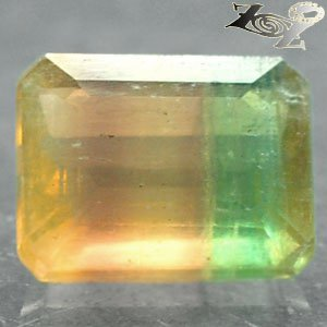 5.12 Ct.Natural Emerald 8.5*10.5 mm Purple Green Yellow Layers Clear Fluorite ��