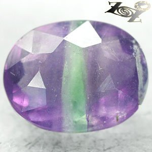 8.02 CT.Natural Oval 11*14mm Intense Purple Green Zone Clear Vietnam Fluorite ��