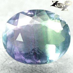 8.44 CT.Natural Oval 11 * 13 mm. Purple Blue Green Zone Vietnam Fluorite Gems