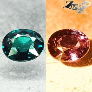 VVS1 FIrely Natural Oval 4.5*5.5mm Blue Green Color Change Garnet 0.64CT �����榴�
