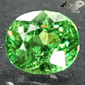 Firely Natural Oval 5*6mm Red Spark Green Andradite Demantoid Garnet 0.98 CT.翠榴�