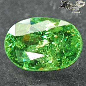 Natural Oval 5*7 mm.Red Spark Intense Green Demantoid Andradite Garnet 1 CT.Gems