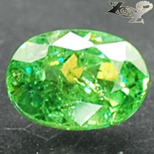 Natural Oval 5.5*7 mm.Red Spark Intense Green Andradite Demantoid Garnet 1.16 CT