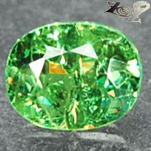 Natural Oval 5.5*7 Red Spark Intense Green Demantoid Andradite Garnet 1.25CT 翠榴�