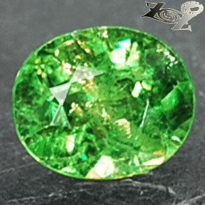 Natural Oval 6*7mm Red Spark Intense Green Andradite Demantoid Garnet 1.29CT.翠榴�