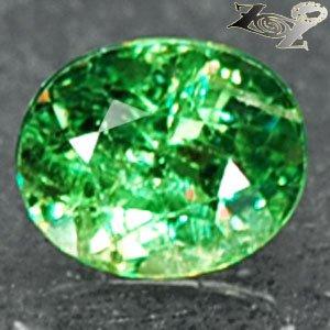 Natural Oval 5*6 mm.Red Spark Vivid Green Andradite Demantoid Garnet 1.06 CT.翠榴�