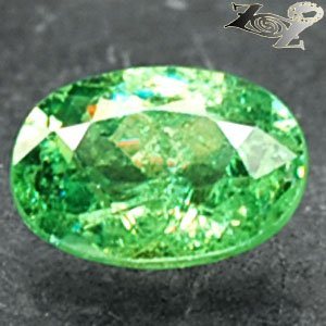 Natural Oval 5.5*7 mm.Red Spark Green Andradite Demantoid Garnet 1.05 CT.Gems