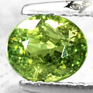 Firely Natural Oval 5*6mm Red Spark Green Andradite Demantoid Garnet 0.93 CT.翠榴�