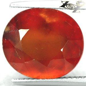 8.61 CT.Natural Oval 11*13.5 mm. Mandarin Red Orange Hessonite Garnet �榴��榴� Gem