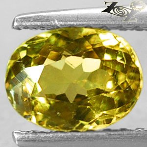 Full Fire Natural Oval 5.5*7 mm Vivid Lime Yellow Grossular Mali Garnet 1.28 Ct.