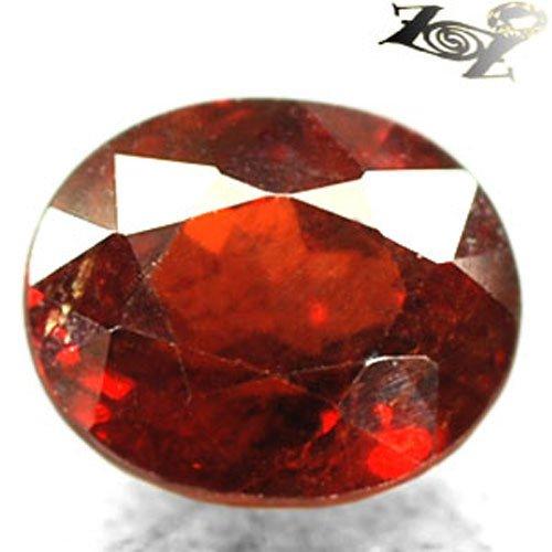 7.4 CT.Firely Natural Oval 9.5*10.5mm Intense Red Orange Spessartite Garnet ��榴�