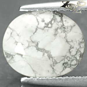 4.19 CT.Natural Oval 9*11 mm. Gray Vein Milky White Madagascare Howlite Gems ��