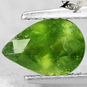Firely Natural Pear 6*9 mm. Olive Green Canada Hydrogrossular Garnet 1.75 Ct.Gem