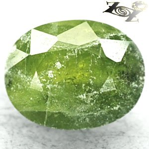 4.83 CT.Natural Oval 9*11 mm. Leaf Green Canada Hydrogrossular Garnet Loose Gems