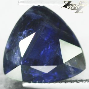 5.9 CT.Natural Trillion 12 mm Biaxial Intense Hard Blue Violet Cordierite Iolite