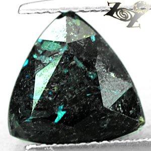 4.41 CT.Natural Trillion 10 mm. Titanium Blue Schiller Streaks Nuummite Jenakite