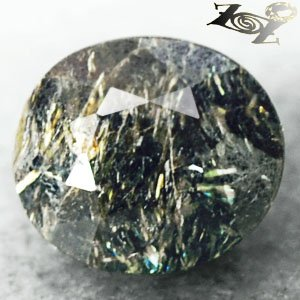 5.63 CT.Natural Oval 9.5*11 mm.Yellow Green Schiller Streaks Whole Nuummite Gems