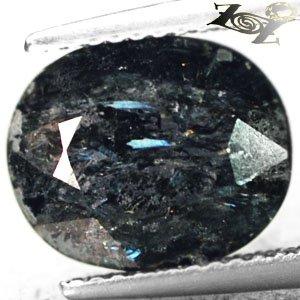 4.24 CT.Natural Oval 9*11 mm. Titanium Blue Schiller Streaks Mauritania Jenakite