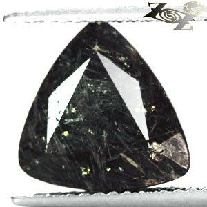 3.4 CT.Natural Trillion 10mm Gold Yellow Schiller Streaks Pyrite Matrix Nuummite