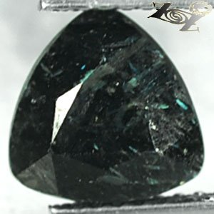 2.27 CT.Natural Trillion 8 mm. Green Blue Schiller Streaks Mauritania Jenakite